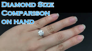 Diamond Size Comparison On Hand 0 3ct 0 4ct 0 5ct 0 6ct 0 7ct 0 8ct 0 9ct 1ct 1 5ct 2ct