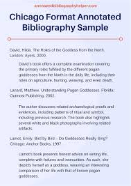 Annotated Bibliography Sample Annotated Bibliography Example