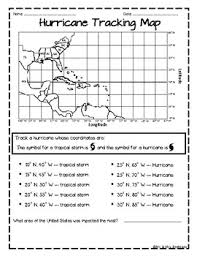 Hurrican Track Worksheets Teaching Resources Tpt