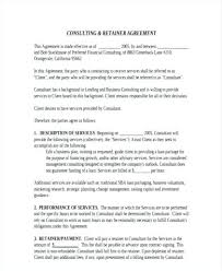 retainer consulting agreement contract templates for consultants inspirational consulting
