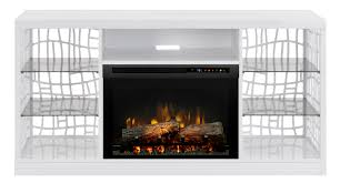dimplex charlotte gloss white hardwood media console log electric fireplace to enlarge