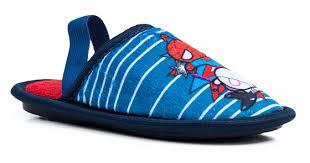 <b>Туфли комнатные для мальчика</b> с рисунком Marvel, синие/красные