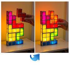tetris stackable led desk lamp night light jigsaw lamp tetris lamp
