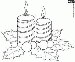Disegni Di Candele Di Natale Da Colorare E Stampare