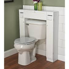 ... Over The Toilet Space Saver by Simple Living. 1 Center Cabinet and 2  Side Cabinets in White Wood Material. Gives Extra Storage for Every Bathroom .