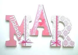 custom wood letters painted wooden nursery personalized to spell name made cursive