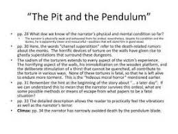 the pit and the pendulum essay questions  the pit and the pendulum essay questions