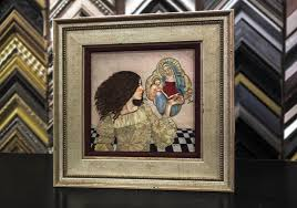 picture framing framed picture on table