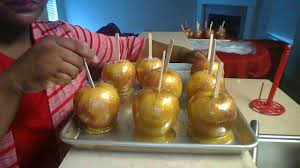 how 2 make gold candy apples