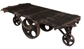 Industrial Factory Cart Coffee Table Industrial Metal Factory Cart Coffee Table Olde Good Things