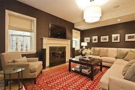decorating with white furniture. Small Family Room Decorating Ideas White Furniture Creative Wall Art Brown Color Sofa Patterned With E