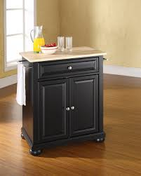 Crosley Furniture Kitchen Cart Crosley Furniture Alexandria Natural Wood Top Portable Kitchen