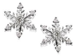 default image 9ct white gold cubic zirconia snowflake earrings 11mm g2715alternative image1