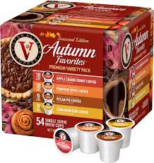 It taste so good, and i couldn't pass it up for that price for 80 pods. Victor Allen S Seasonal Edition Autumn Favorites Premium Variety Pack Coffee Pods 54 Pack Fg015787 Best Buy