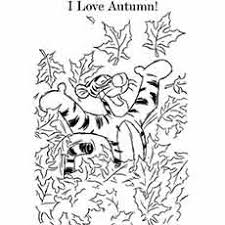 fall coloring pages printable. Fine Fall Cartoon Tigger Loves Autumn Pic To Color For Kids Fall Coloring Pages Printable H