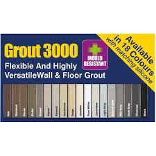 3kg Ultra Tile Fix Flexible Wall Floor Grout 12 Colours