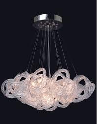 viz glass inc ch 2416 5c chrome infinity chandelier infinity