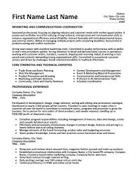 Education Coordinator Resumes Marketing And Communications Coordinator Resume