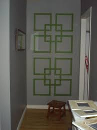 Paint Tape Design Ideas Partially Painted Bedroom Showing A Taped