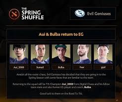 dota 2 news new eg line up roster team empire struggle and