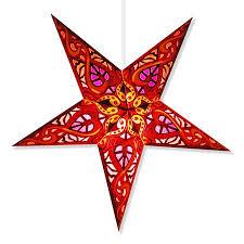 Celtic Red Paper Star Lamp, Star Lantern Star Light  (Celtic Red Star  Lantern