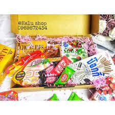 SALE| Hộp bánh kẹo mix 299K còn 199k (Bánh kẹo Nhật bản + Thái Lan nội địa)  giảm chỉ còn 199,000 đ