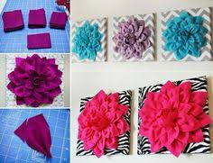 dahlia felt flower wall art add some beauty to your favourite room with this felt flower art this is a very easy diy all you need is some fabric and a  on felt flower wall art diy with diy felt flower wall art usefuldiy on imgfave arts crafts