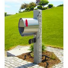 wood mailbox ideas. Stone Pavement Mailbox With Chrome Materials Stunned Everyone Wood Ideas