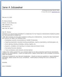 Cover Letter Administrative Assistant Gplusnick