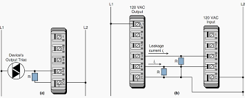 guidelines for plc installation wiring and connection precautions a a connection for a leaky input device and b the connection