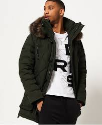 Mens - 1st AD Down Quilted Parka Jacket in Deep Khaki | Superdry & Superdry 1st AD Down Quilted Parka Jacket Green Adamdwight.com