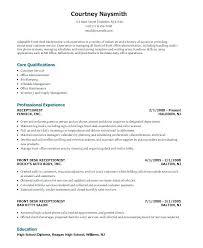 Front Desk Receptionist Resume Sample Resume Samples Receptionist