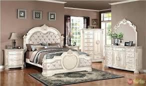 White Distressed Bedroom Set Bed Rustic Full Size Of Wood ...