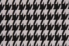 premier prints large houndstooth printed cotton dry fabric in black white