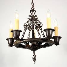 sold amazing antique five light chandelier by cast iron fixtures cleaning cast iron