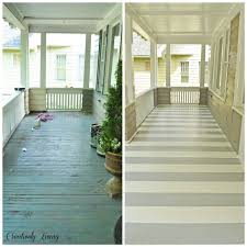 paint your porch with stripes