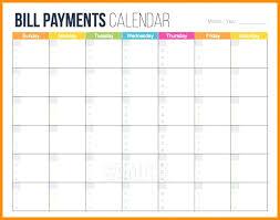 Calendar Template Online Bill Calendar Template Printable Lovlyangels Com