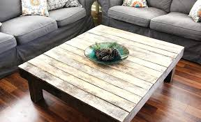 rustic square coffee table making
