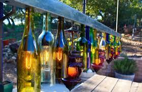 glass bottle idea chandelier for outdoor living space
