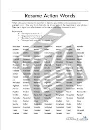 Resume Example Action Verbs For Resumes List Free Sample Action