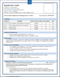 Resume Format For Freshers Engineers Pdf Free Download Menu And Resume