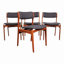 half dining chairs luxury eric buch o d mobler mid century modern teak dining chairs set