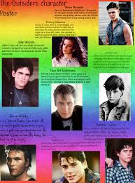 the outsiders the outsiders character poster publish with glogster