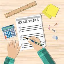 Student Hand Fills Examination Quiz Paper, School Exam Test Results...  Royalty Free Cliparts, Vectors, And Stock Illustration. Image 55054495.