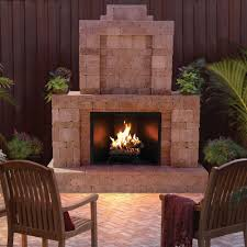 rumblestone outdoor fireplace in cafe 53369 the home depot