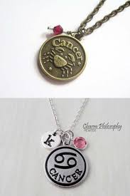 cancer zodiac necklace gold cancer