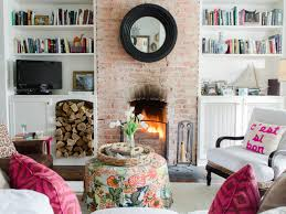 wall along best gray paint room decoration ideas square white legless coffee table single red couch beige fur rug small living room electric fireplace