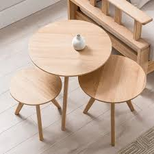 natural coffee table round wooden top