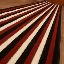 broad 8 red black cream hallway runner