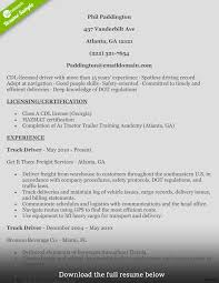 Delivery Driver Resume Truck Driver Resume Phil For 100a Free Templates Drivers Example 22